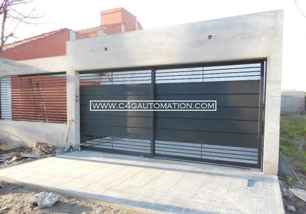 1 ... & Automatic motorised commercial telescopic hanging roller garage doors