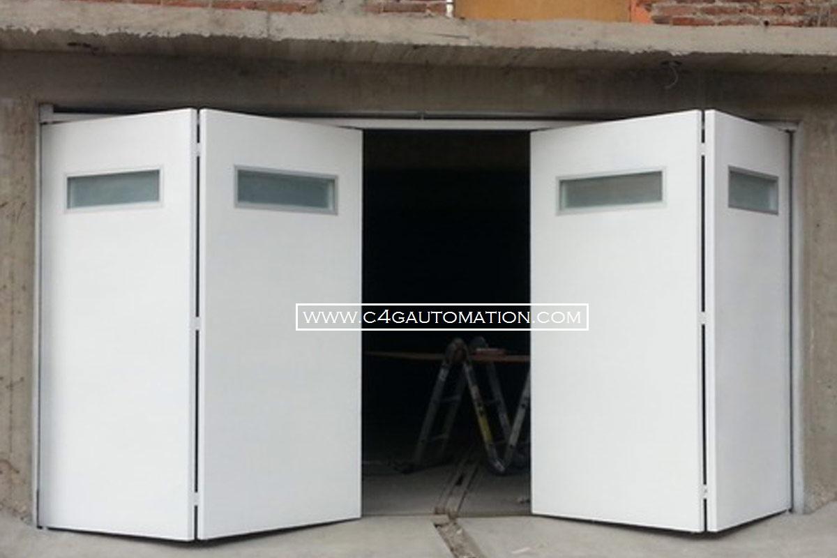 Automatic Motorised Residential Bi Folding Garage Doors Manufacturers